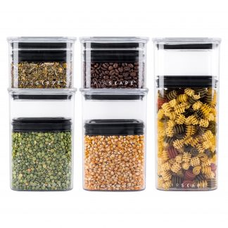 Photo of Airscape Lite Tritan® plastic storage canister set 5-pack